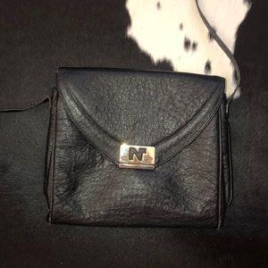 Nina Ricci vintage ostrich leather purse